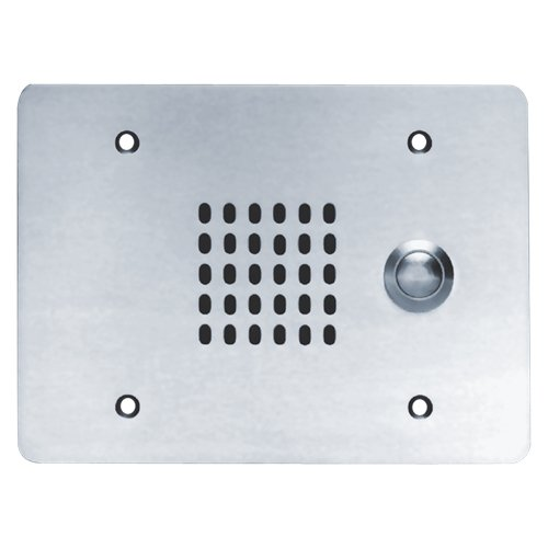 25V, 3 Gang, Vandal Proof Intercom Station with Cone Loudspeaker, Call Switch