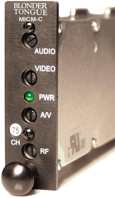 45 dBmV Channelized A/V Modulator