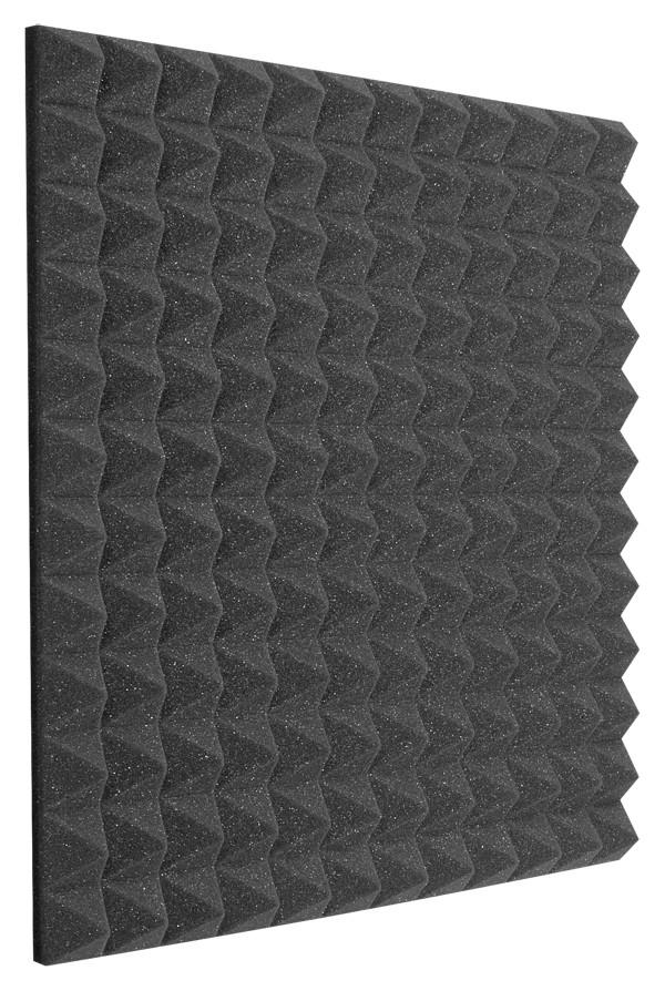 "2'x2'x4"" StudioFoam Pyramids in Charcoal"