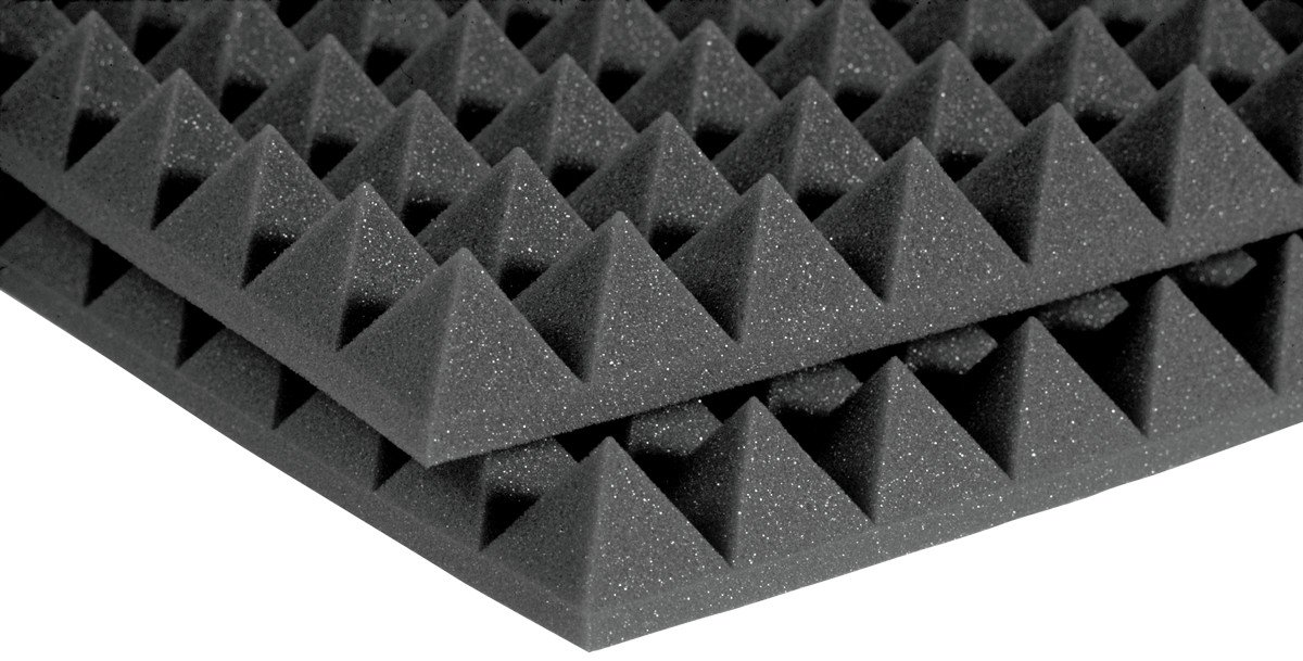 "2'x4'x2"" StudioFoam Pyramids in Burgundy (Charcoal Shown)"