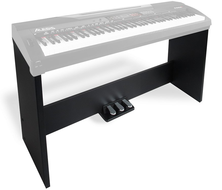 Three-Pedal Piano Stand with Wood Finish for Coda and Coda Pro Keyboards