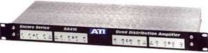 Quad 1x4 Distribution Amplifier, Input Signal Presence LEDs