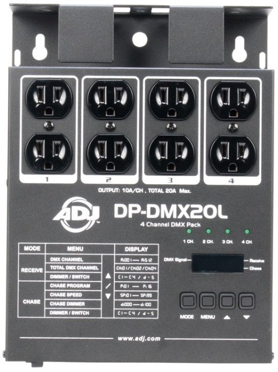 4-Channel Portable DMX Dimmer / Switch Pack