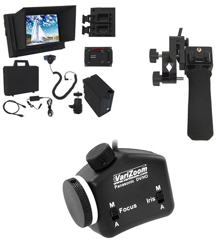 Pistol-Grip Zoom, Focus/Iris, and Monitor Kit