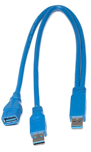 PIX-E Series USB 3.0 to 2.0 Y Cable Adapter