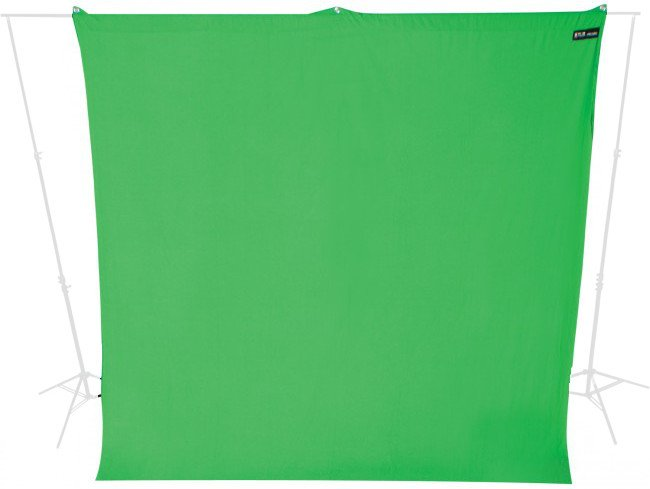 9 ft x 10 ft Wrinkle-Resistant Green Screen Backdrop with Case