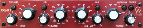 1-Channel 1081 Style Neve EQ