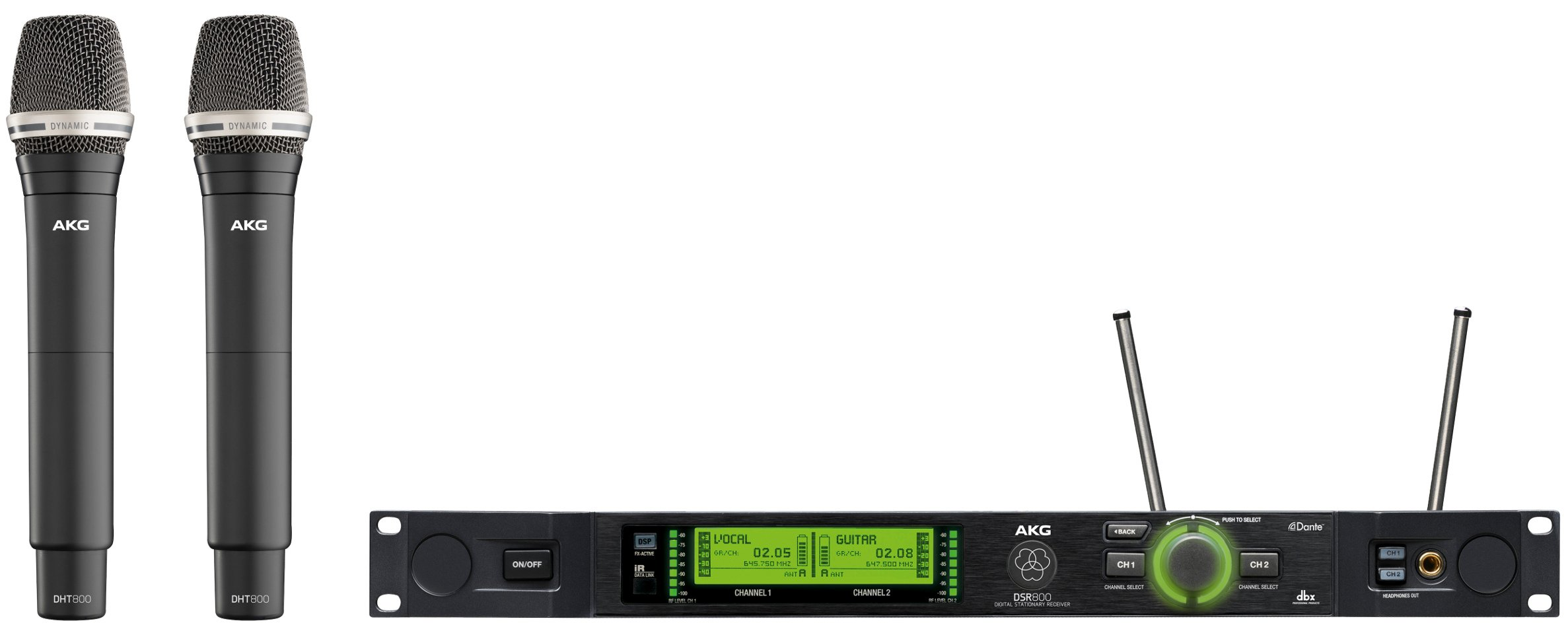AKG DMS800 Vocal Set D7 Digital Wireless Mic System for Band 1 DMS800-D7-VOCAL-SET