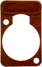 Lettering Plate for D-Connectors (Brown)