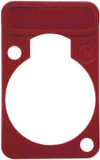 Lettering Plate for D-Connectors (Red)