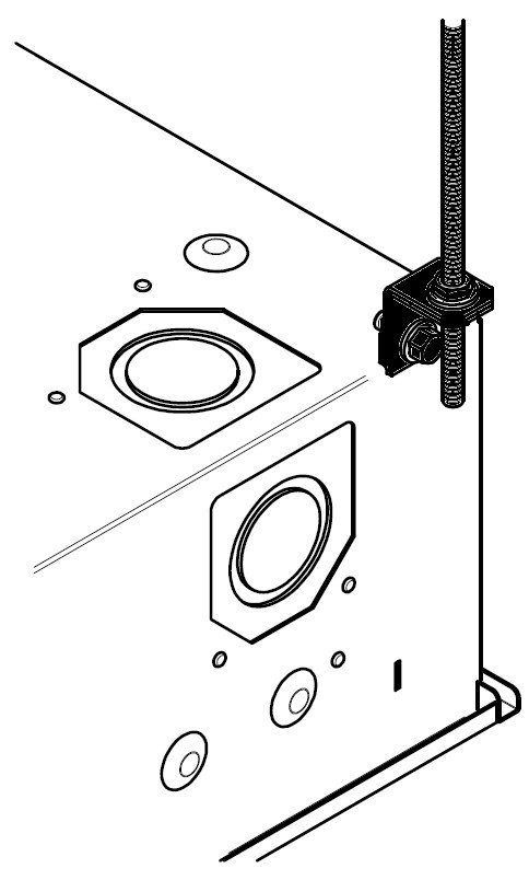 FSR, Inc CB-THRD  Threaded Rod Mounting Kit for Ceiling Box Series Enclosures CB-THRD