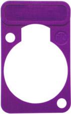 Lettering Plate for D-Connectors (Violet)