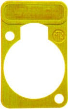 Lettering Plate for D-Connectors (Yellow)