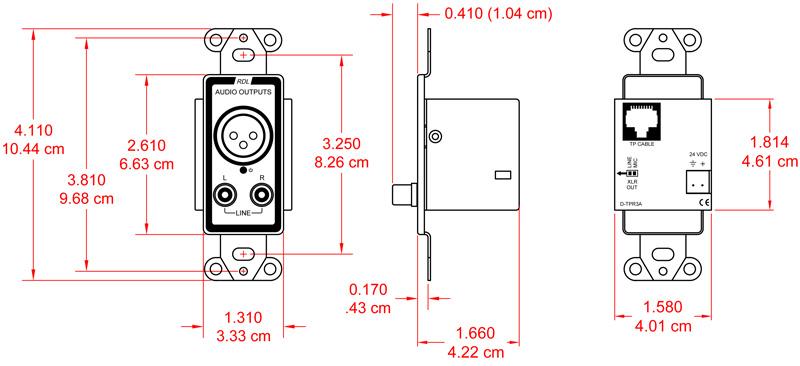 Radio Design Labs D-TPR3A Active Three-Pair Receiver D-TPR3A