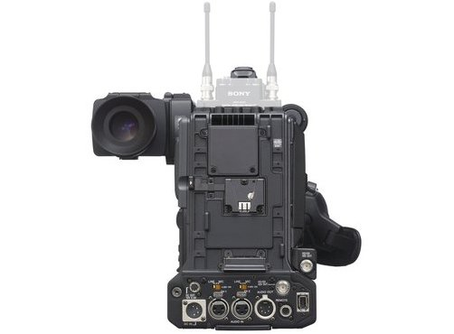 Three 1/2-inch Type Exmor CMOS XDCAM Camcorder with 16x Zoom HD Lens