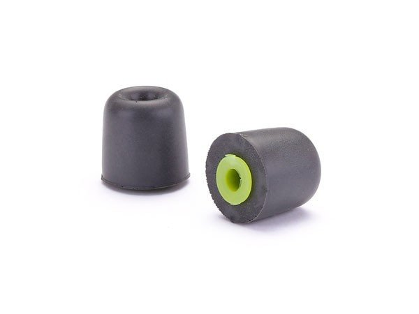 200-Pack of True-Fit Foam Earbud Tips with Green Attachment Ring
