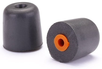 200-Pack of True-Fit Foam Earbud Tips with Orange Attachment Ring