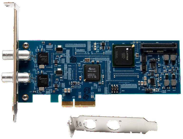 Two Input SDI or DVB-ASI Video Capture Card with SimulStream