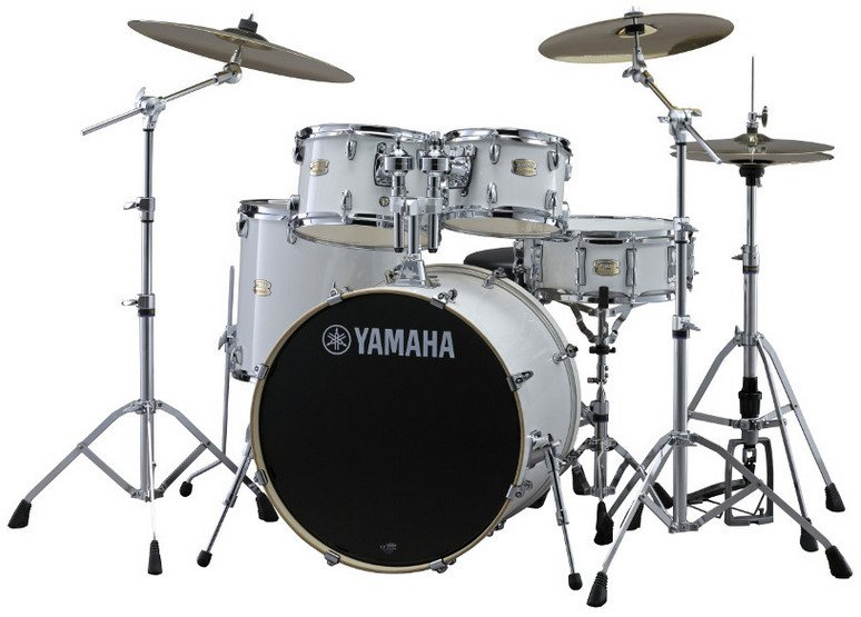 Stage Custom Hybrid Electronic / Acoustic Kit in Pure White