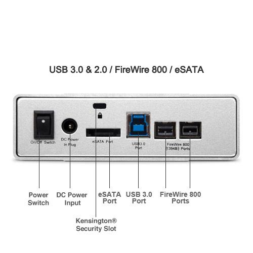 Mercury Elite Pro 5.0TB 7200RPM USB 3.0/FireWire 800/eSATA External Hard Drive, 64MB Cache
