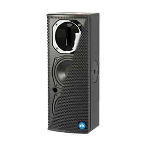 """Dual 6.5"""", Powered Speaker, Black"""