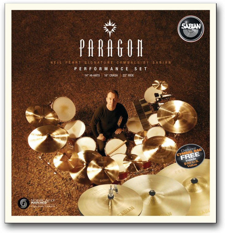 "Sabian Paragon Performance Cymbal Set: 14"" Hi-Hats, 16"" Crash, 22"" Ride NP5005N"