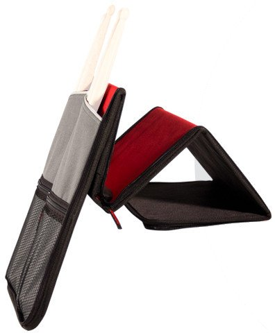 Drumstick Bag in Black and Red