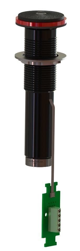 "1.43"" Semisphere Boundary Microphone, Black"