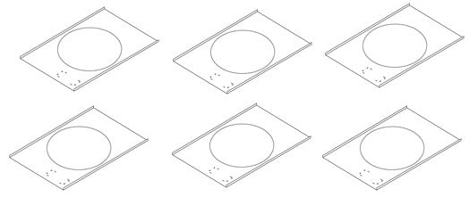 6 Pack of Ceiling Tile Bridges for Bass Loudspeakers