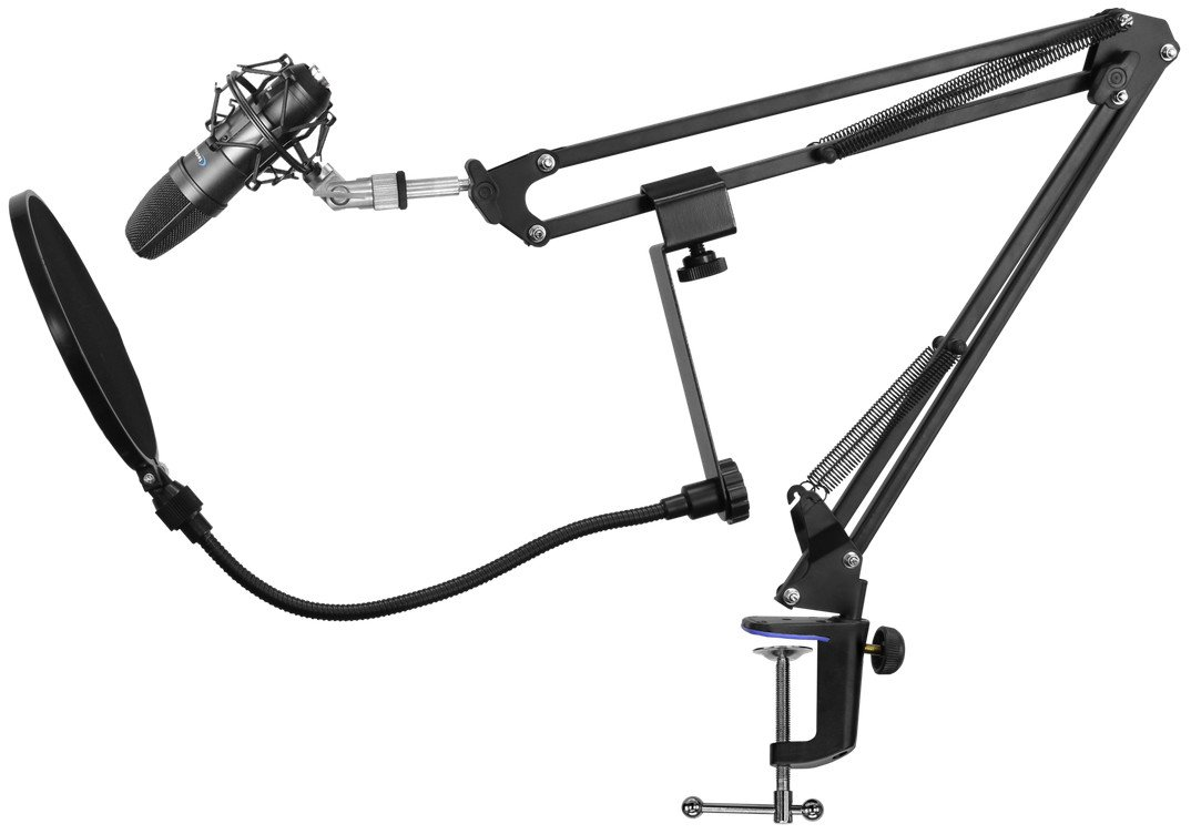 Condenser Microphone Starter Package with Broadcast Arm