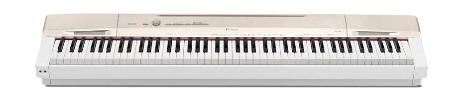 Casio PX-160 88-Key Digital Piano with Weighted Hammer Action Keyboard, in Gold/White PX160GD