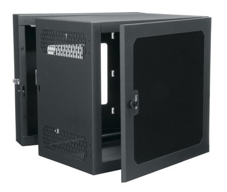 "12RU 26"" Deep Data Wall Cab with Plexi Front Door"