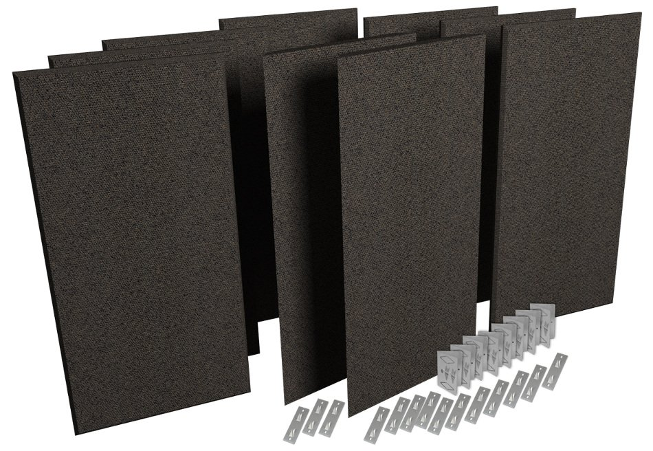Auralex ProPanel ProKit-1 Acoustic Panel Room Treatment System in Obsidian PPK1-OBS