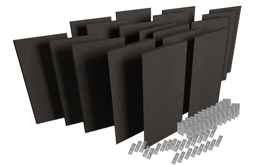 Acoustic Panel Room Treatment System in Obsidian