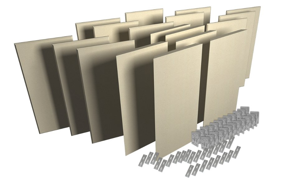 Acoustic Panel Room Treatment System in Sandstone