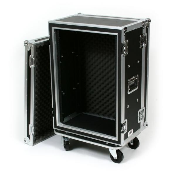 16-Space ATA Shockmount Rack Case with Casters