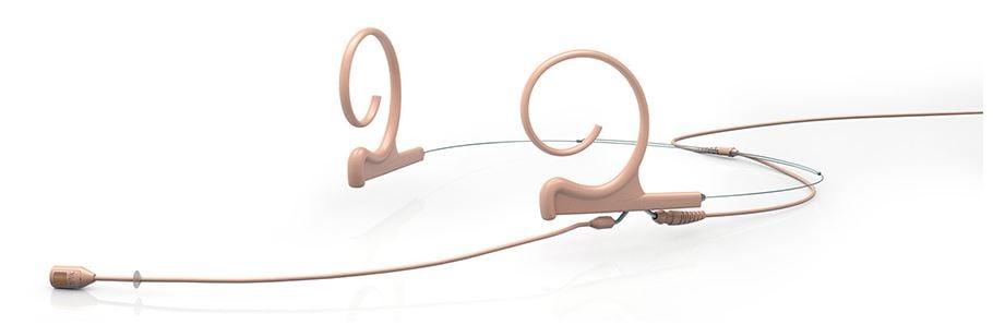 Dual-Ear Headset Mic, Cardioid, 3.5mm, Beige