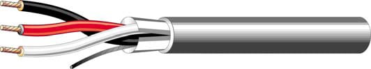 3 Conductor 22ga Cable, 1000 ft, Gray