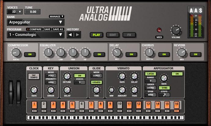 Analog Synthesizer Virtual Software Instrument Plugin