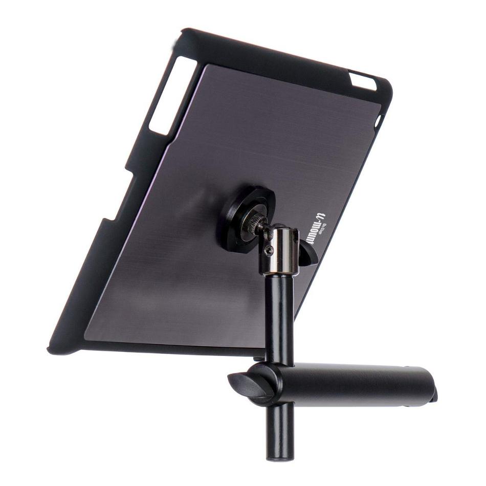 Snap-On iPad Microphone Stand Mount with u-mount in Gun Metal