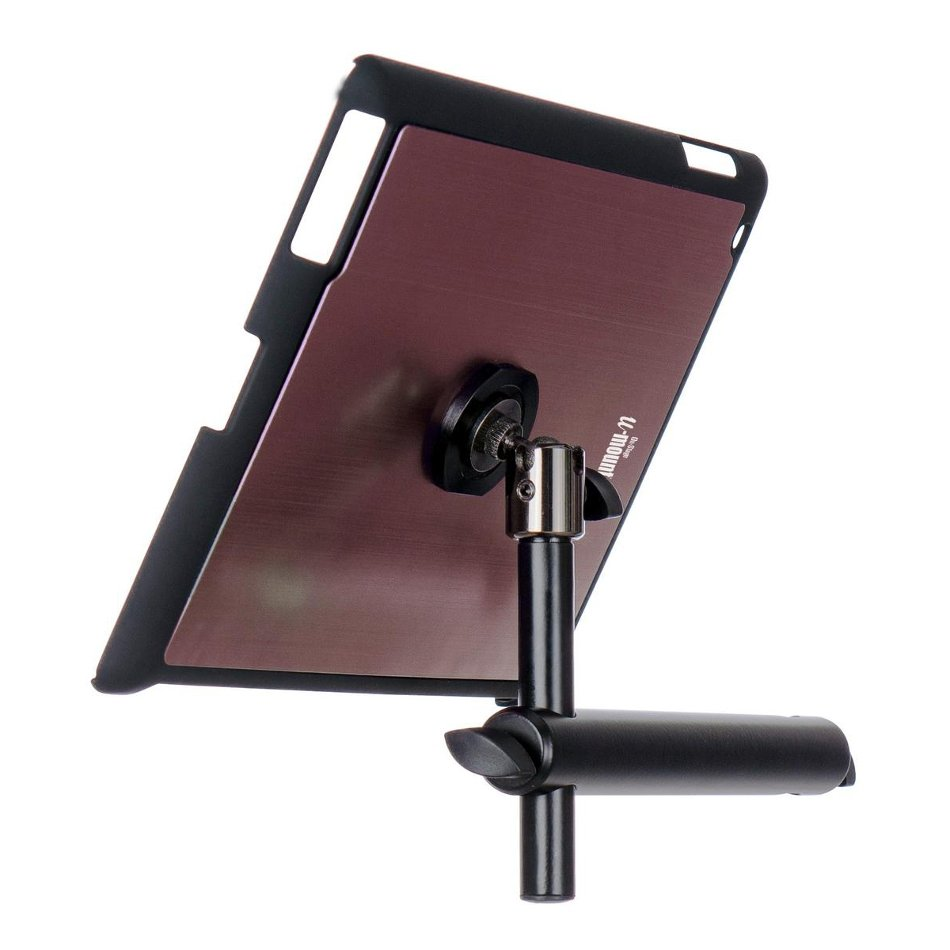 Snap-On iPad Microphone Stand Mount with u-mount in Mauve