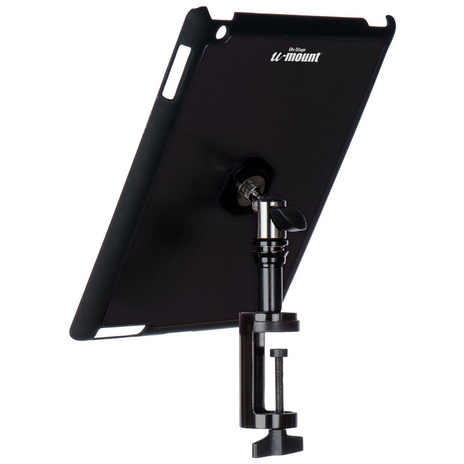 On-Stage Stands TCM9163B  Snap-On iPad Cover/Mount for Table Edges with u-mount in Black TCM9163B