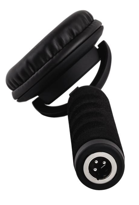 Single-Ear DJ Headphone with Detachable Coiled Cable