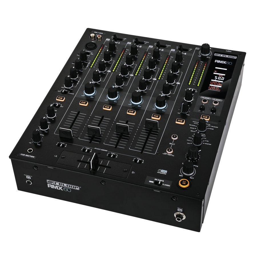 4-Channel Digital DJ Mixer with Onboard Effects