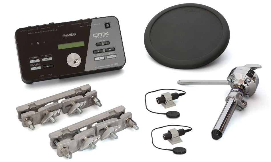 yamaha dtxhp570 dtx502 drum module 1 tp70 pad 2 dt20 triggers with mounts and cables full. Black Bedroom Furniture Sets. Home Design Ideas