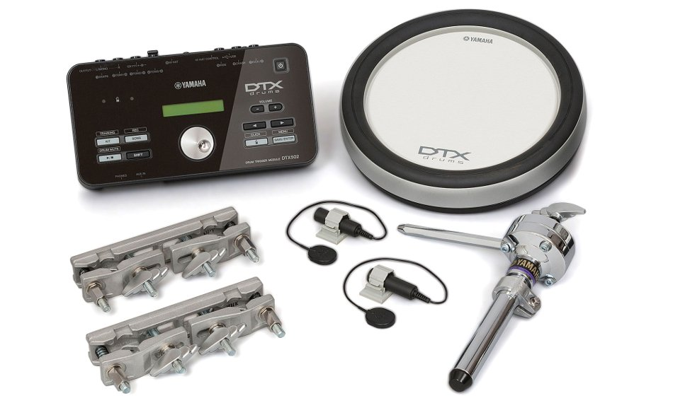 "Electronic Drum Hybrid Pack with (1) 8"" Drum Pad and (2) Acoustic Drum Triggers"