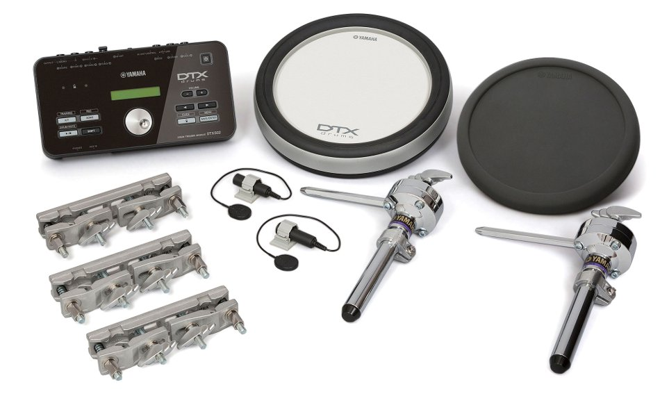 electronic drum hybrid pack with 2 drum pads and 2 acoustic drum triggers by yamaha. Black Bedroom Furniture Sets. Home Design Ideas