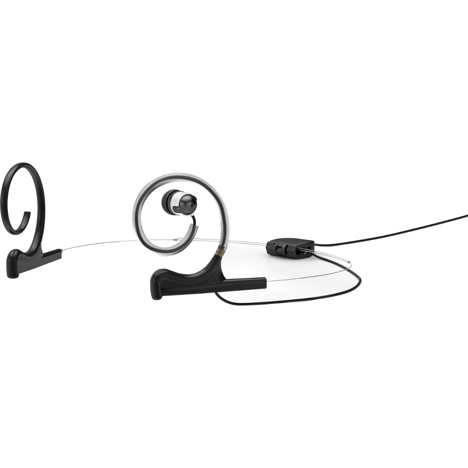 d:fine Single In-Ear Broadcast Headset Mount, Black, Microdot, Dual-Ear, 3 Pin Lemo