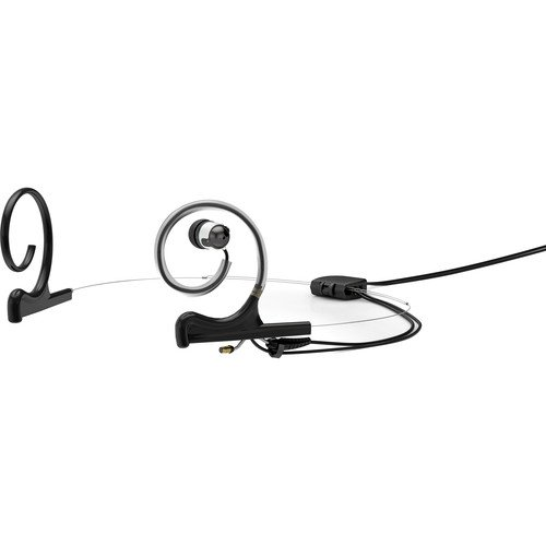 d:fine Single In-Ear Broadcast Headset Mount, Black, Microdot, Dual-Ear, TA5F for Lectro