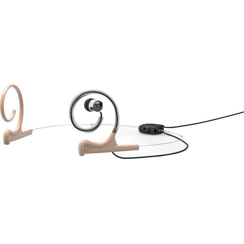 d:fine Single In-Ear Broadcast Headset Mount, Beige, Dual-Ear